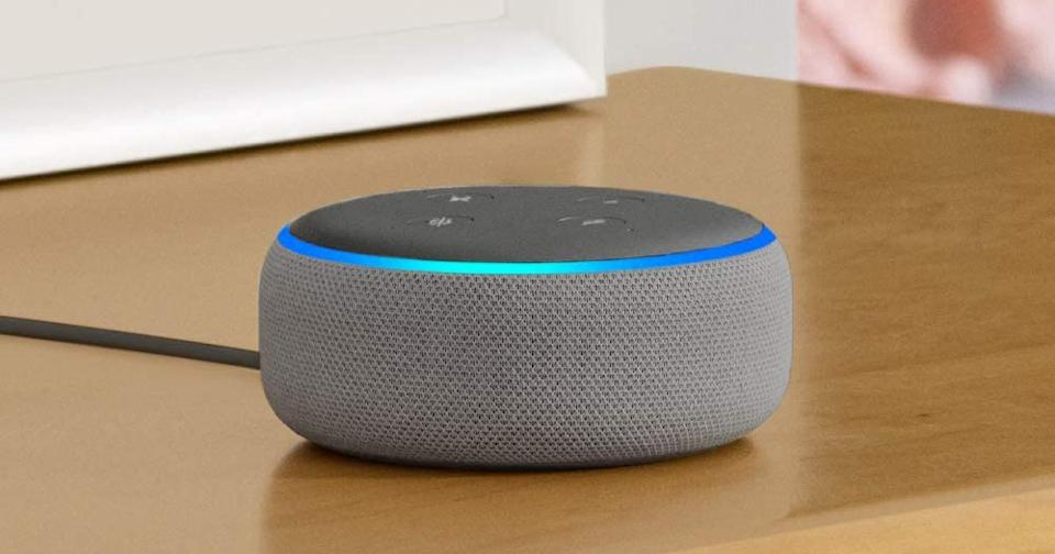 It's a mini smart home hub and Bluetooth speaker in one. (Photo: Amazon)