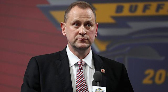 Brad Treliving has made some mistakes, but his job is probably safe. (Getty)