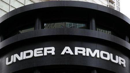 Under Armour shares soared in midday trading.