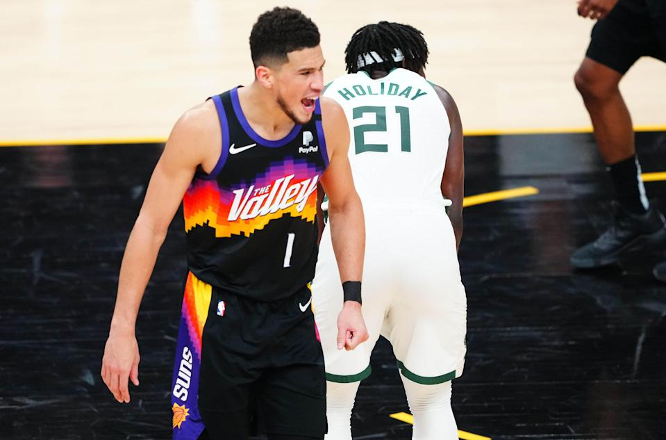 Devin Booker is averaging 27.2 points per game in first first postseason.