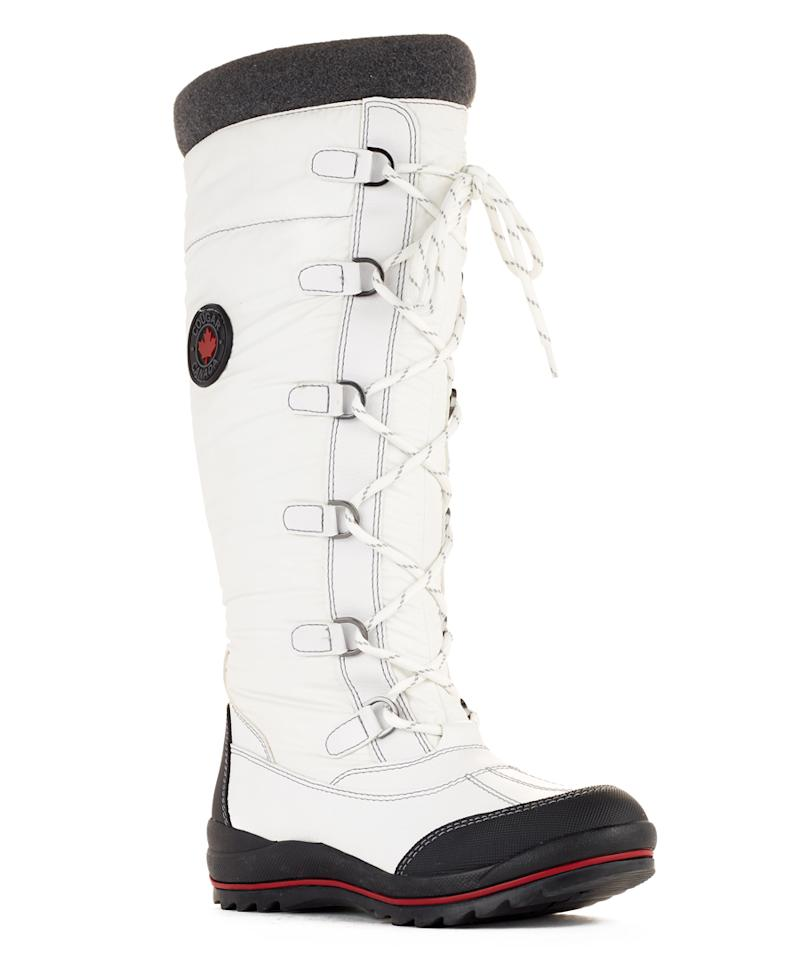 """<p>Pristine white for the girl who likes to stand out in her winter gear.</p> <p>$160 