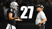 <p>Derek Carr has to play better than he did in Week 1, but Amari Cooper's lack of production is becoming a real problem. He was bad most of last season and put up one catch for 9 yards against the Rams. Not good at all. (Derek Carr, Jon Gruden) </p>