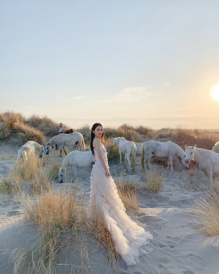 """<p>Opt for high-style <a href=""""https://www.harpersbazaar.com/wedding/planning/g9660919/best-engagement-photos/"""" target=""""_blank"""">engagement photos</a>. Think of this shoot as a time to have fun with travel, style, and more—and get to know your photographer while gaining confidence in front of the camera. Head to a location you've been dying to visit; take a risk on a dress color or silhouette that feels undeniably true to your personal style, but wouldn't otherwise have a place in your wedding wardrobe; let your hair down if you plan to keep it polished and up for the actual ceremony. </p><p>Consider the epic photos you'd love to have, but won't have the time to achieve as you entertain guests on your wedding weekend—like this session by <a href=""""https://josevilla.com/"""" target=""""_blank"""">Jose Villa</a> shot in Camargue, France.</p>"""