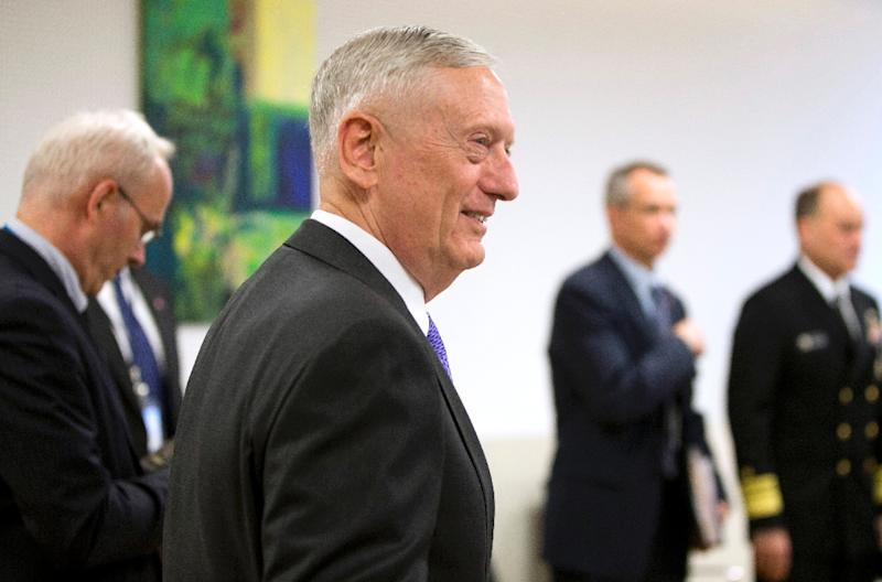 US Defense Secretary Jim Mattis, seen here at NATO headquarters in Brussels, surprised a US high school student by taking time for a 45-minute interview for his school newspaper