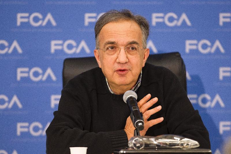 Sergio Marchionne, CEO of Fiat Chrysler Automobiles, takes a question during a press conference at the North American International Auto Show in Detroit, Michigan, January 9, 2017 (AFP Photo/Geoff Robins)