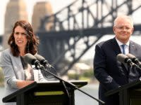 New Zealand Prime Minister Jacinda Ardern gave Scott Morrison a serve over Australia's deportations policy, while he stood right beside her