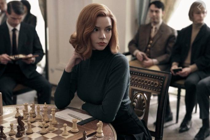 Anya Taylor-Joy in The Queen's Gambit. The festival organisers hope the success of Netflix's hit show can help drive attendance at its chess festival in Trafalgar Square (Netflix)