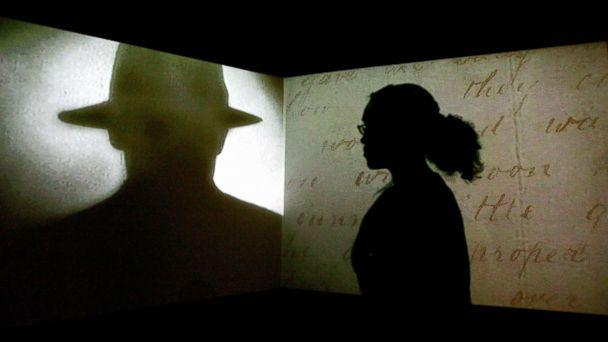 PHOTO: A visitor watches a black and white projection during a press preview of the 'Jack the Ripper and the East End' exhibition at Museum in Docklands, in London, May 14, 2008. (Carl De Souza/AFP/Getty Images, FILE)