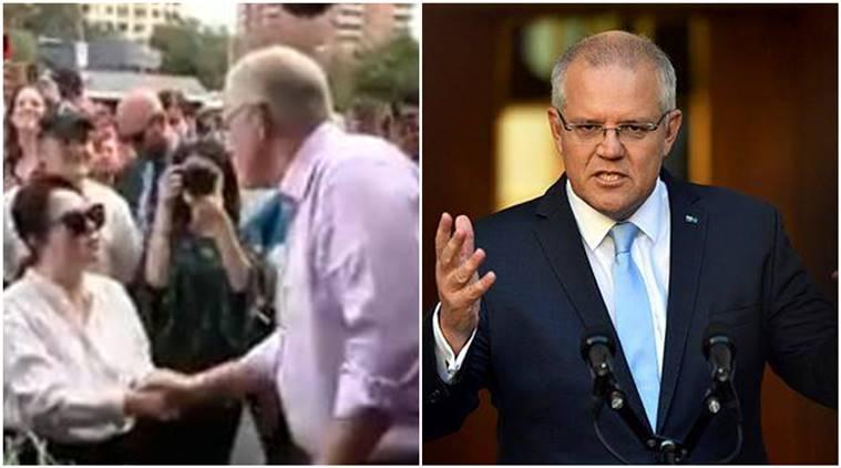 Scott Morrison, Australian Prime Minister Scott Morrison, Australian Prime Minister goof up, Australian Prime Minister chinese, Australian PM speaks chinese to korean woman, korean woman, viral video, indian express, indian express news