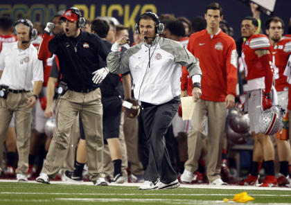 Urban Meyer reacts to a play during Ohio State's win over Oregon. (USAT)
