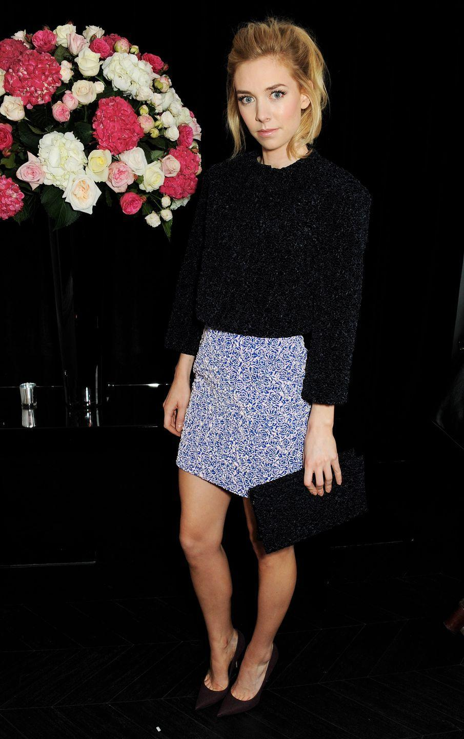 <p>Here, she attends the opening of the Dior Beauty Boutique in Covent Garden.</p>
