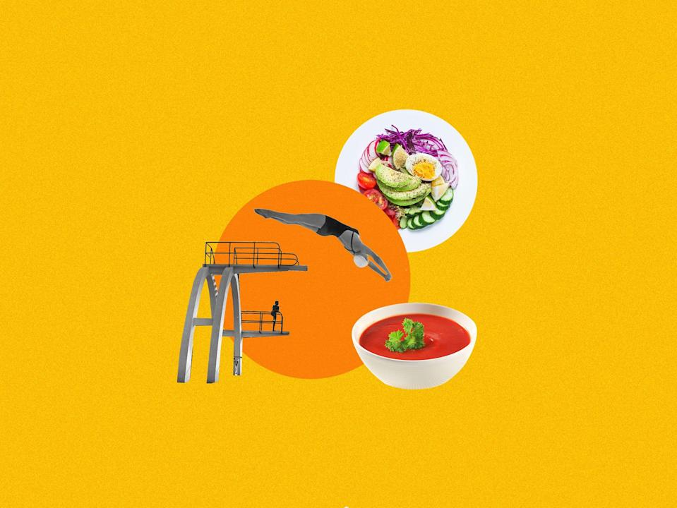 """<p>With the 2021 summer games in Tokyo quickly (and finally!) approaching, we had to find out how the Team USA athletes achieve their near-superhuman status. We got a bunch of top-notch competitors to share how they <a href=""""http://www.delish.com/food/g3581/most-hydrating-foods-and-drinks/"""" rel=""""nofollow noopener"""" target=""""_blank"""" data-ylk=""""slk:stay hydrated"""" class=""""link rapid-noclick-resp"""">stay hydrated</a>, their go-to <a href=""""http://www.delish.com/food-news/g3885/what-to-eat-before-after-workout/"""" rel=""""nofollow noopener"""" target=""""_blank"""" data-ylk=""""slk:pre- and post-workout fuel"""" class=""""link rapid-noclick-resp"""">pre- and post-workout fuel</a> and what they're doing to bring home the gold for the U.S.A. See how their answers differed from Pyeongchang competitors' (slides 9 and onward) answers from interviews we did back in 2018.</p><p><em><strong><em>To learn more about all the Olympic and Paralympic hopefuls, visit TeamUSA.org. Watch the Tokyo Olympics beginning July 23</em><em>rd</em><em> and the Tokyo Paralympics beginning August 24</em><em>th</em><em> on NBC.</em></strong></em></p>"""