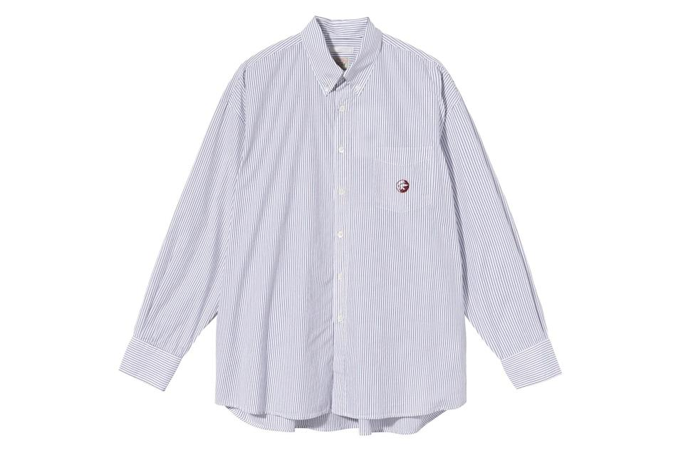 "$205, Stüssy. <a href=""https://www.stussy.com/collections/new-arrivals/products/borrowed-bd-shirt-wine-multi-stripe?variant=32954033733728"" rel=""nofollow noopener"" target=""_blank"" data-ylk=""slk:Get it now!"" class=""link rapid-noclick-resp"">Get it now!</a>"
