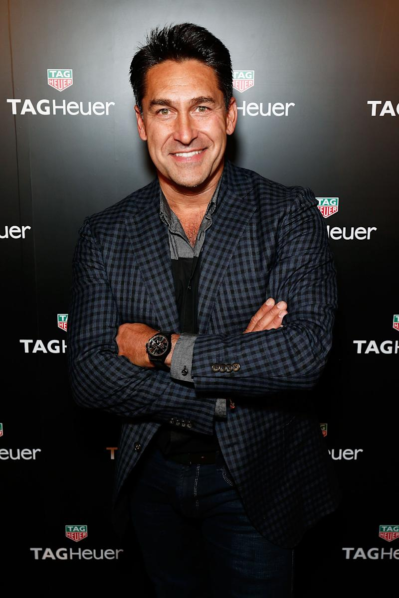 Jamie Durie arrives at the TAG Heuer Sydney Flagship Re-Opening at Pitt Street