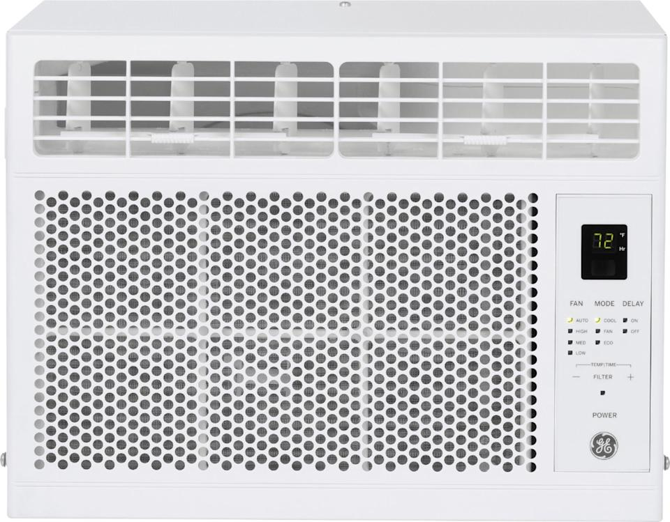 """<strong><h2><a href=""""https://www.bestbuy.com/site/ge-150-sq-ft-5050-btu-window-air-conditioner-white/6390677.p?skuId=6390677&ref=212&loc=1&ref=212&loc=1&ds_rl=1260582&gclid=CjwKCAjwkJj6BRA-EiwA0ZVPVphwc7AzxJAckjvc_ldgEPXdug5m_0v6FzWFCa8Fmphgwm2OY_uGWhoCCOMQAvD_BwE&gclsrc=aw.ds"""" rel=""""nofollow noopener"""" target=""""_blank"""" data-ylk=""""slk:Window Air Conditioner"""" class=""""link rapid-noclick-resp"""">Window Air Conditioner</a></h2></strong><br><strong>Dates: Now - September 7</strong><br>While we're heading into what's normally considered the hottest weekend of the year, there's no more practical a purchase than a truly effective AC. This unit is on sale for $30 off its original price at <a href=""""https://www.bestbuy.com/site/ge-150-sq-ft-5050-btu-window-air-conditioner-white/6390677.p?skuId=6390677&ref=212&loc=1&ref=212&loc=1&ds_rl=1260582&gclid=CjwKCAjwkJj6BRA-EiwA0ZVPVphwc7AzxJAckjvc_ldgEPXdug5m_0v6FzWFCa8Fmphgwm2OY_uGWhoCCOMQAvD_BwE&gclsrc=aw.ds"""" rel=""""nofollow noopener"""" target=""""_blank"""" data-ylk=""""slk:Best Buy"""" class=""""link rapid-noclick-resp""""><strong>Best Buy</strong></a>, along with some other seriously great deals.<br><br><strong>GE</strong> Window Air Conditioner, $, available at <a href=""""https://go.skimresources.com/?id=30283X879131&url=https%3A%2F%2Fwww.bestbuy.com%2Fsite%2Fge-150-sq-ft-5050-btu-window-air-conditioner-white%2F6390677.p%3FskuId%3D6390677%26ref%3D212%26loc%3D1%26ref%3D212%26loc%3D1%26ds_rl%3D1260582%26gclid%3DCjwKCAjwkJj6BRA-EiwA0ZVPVphwc7AzxJAckjvc_ldgEPXdug5m_0v6FzWFCa8Fmphgwm2OY_uGWhoCCOMQAvD_BwE%26gclsrc%3Daw.ds"""" rel=""""nofollow noopener"""" target=""""_blank"""" data-ylk=""""slk:Best Buy"""" class=""""link rapid-noclick-resp"""">Best Buy</a>"""