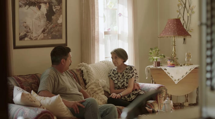 Screengrab of Randy Bryce with his mother, Nancy Bryce in a Randy Bryce for Congress campagin ad. (Video still: Randy Bryce for Congress via YouTube)