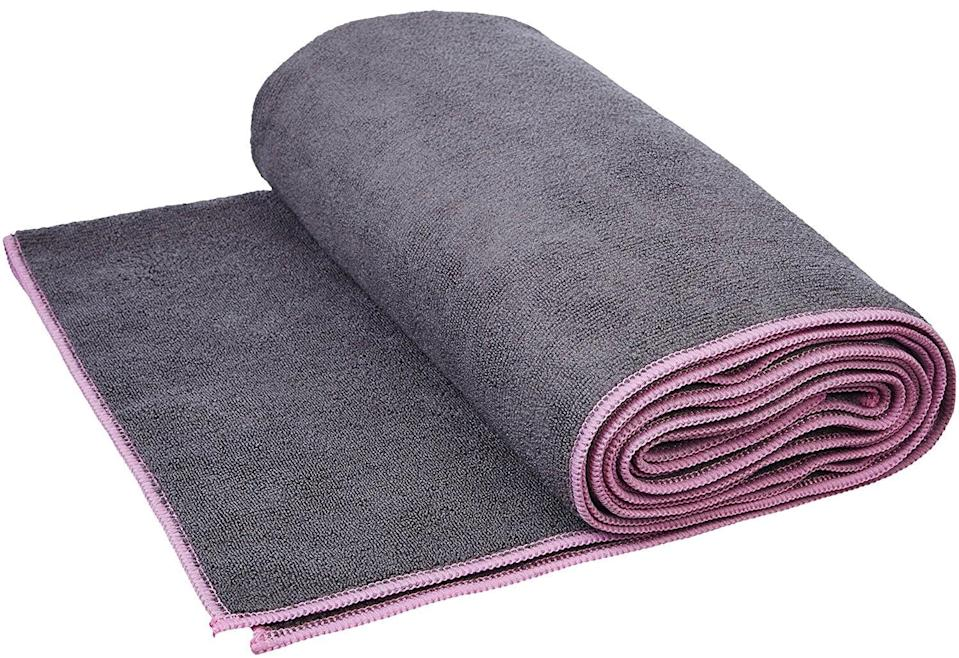 <p>If your workouts tend to get sweaty (we know ours do), this <span>Youphoria Yoga Towel</span> ($14) is a must.</p>