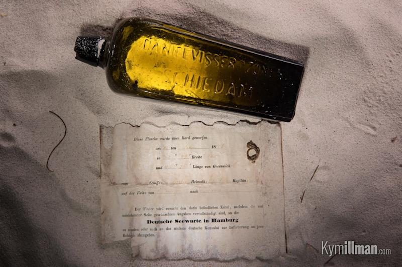 The bottle and its contents were discovered in January (Picture: KymIllman.com)