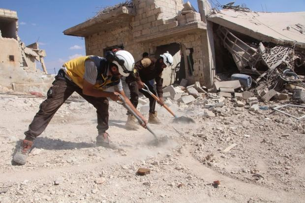 Syrian Civil Defence White Helmets/Associated Press