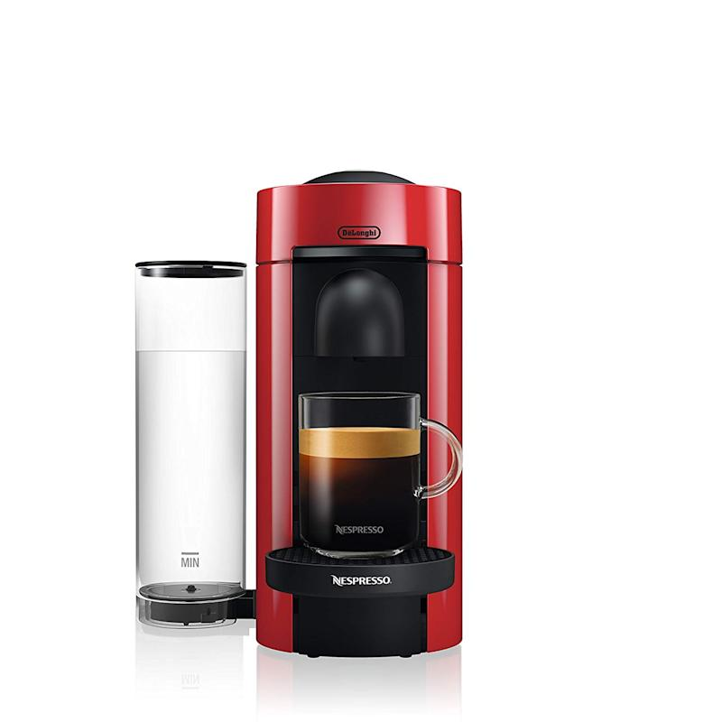 This cute espresso/coffee machine has a 4.4 out of 5-star rating. (Photo: Amazon)