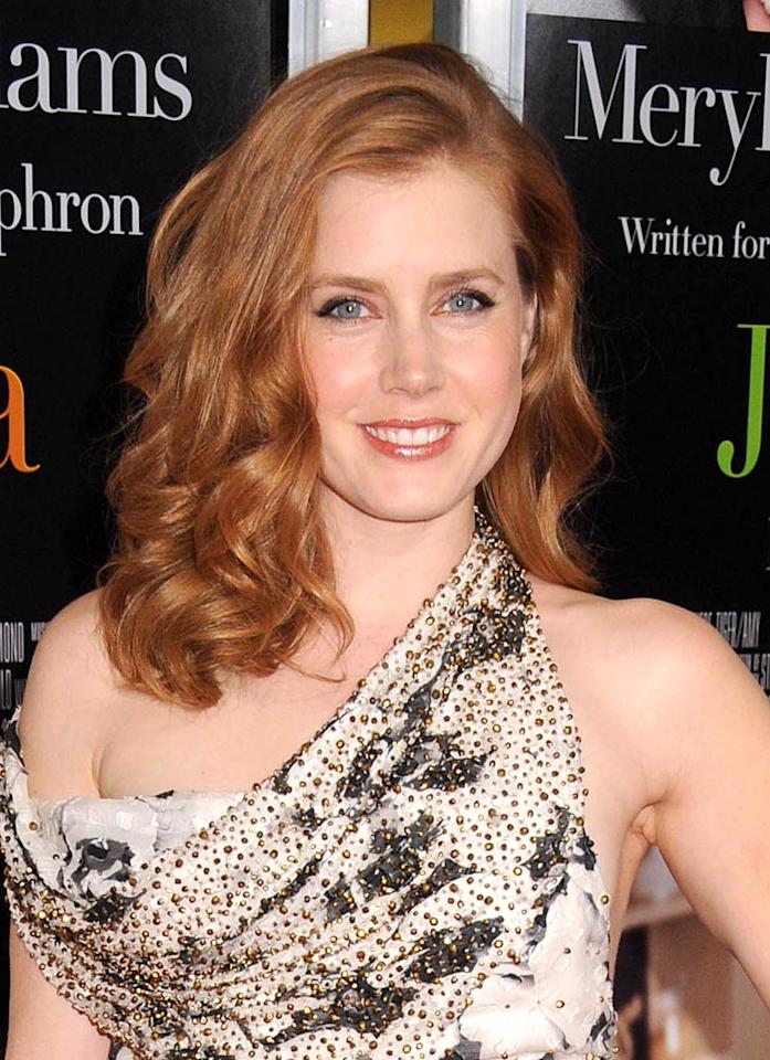 """""""Julie and Julia"""" actress Amy Adams has the perfect coloring to be a redhead, but it turns out the Oscar-nominated actress has a fair secret that she's been hiding. Johns PkI/<a href=""""http://www.splashnewsonline.com"""" target=""""new"""">Splash News</a> - July 30, 2009"""