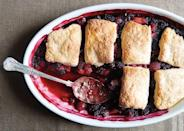 "This berry cobbler recipe is stabilized with cornstarch—it helps the fruit juices thicken as it bakes. <a href=""https://www.bonappetit.com/recipe/mixed-berry-cobbler?mbid=synd_yahoo_rss"" rel=""nofollow noopener"" target=""_blank"" data-ylk=""slk:See recipe."" class=""link rapid-noclick-resp"">See recipe.</a>"