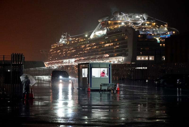 A cruise ship, onboard which 454 people have tested positive for coronavirus, is docked in Yokohama: EPA