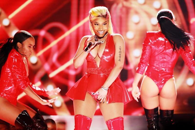 """Nicki Minaj is slightly behind her former collaborator on 10 nominations without a win, last receiving a nomination in 2016 for her The Pinkprint album.<br /><br />In 2019, she accused the Recording Academy of deliberately snubbing her, claiming: """"I was bullied into staying quiet for seven years out of fear."""""""