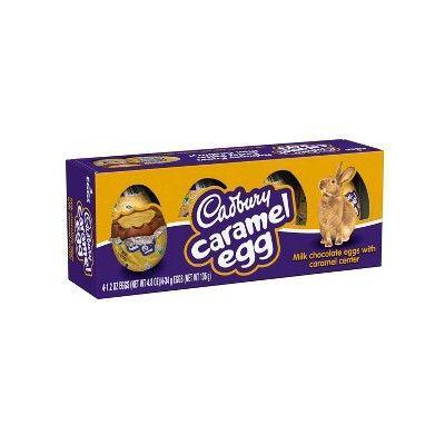 "<p><strong>Cadbury</strong></p><p>walmart.com</p><p><strong>$3.68</strong></p><p><a href=""https://go.redirectingat.com?id=74968X1596630&url=https%3A%2F%2Fwww.walmart.com%2Fip%2FCadbury-Easter-Caramel-and-Chocolate-Egg-Candy-5-Ct-6-Oz%2F20077355&sref=https%3A%2F%2Fwww.bestproducts.com%2Feats%2Ffood%2Fg1239%2Fbest-easter-candy-chocolate%2F"" rel=""nofollow noopener"" target=""_blank"" data-ylk=""slk:Shop Now"" class=""link rapid-noclick-resp"">Shop Now</a></p><p>One of the most quintessential Easter candy varieties of all time, Cadbury's Caramel Eggs strike the perfect textural balance between rich milk chocolate and ooey-gooey caramel goodness. These make for a sweet reward well worth the Easter egg hunt!</p>"
