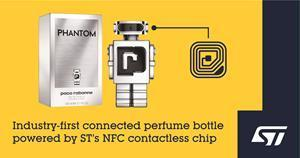 Industry-first connected perfume bottle powered by ST's NFC contactless chip