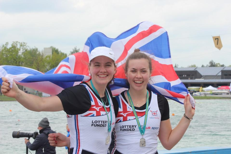Lauren Henry and Olivia Morgan scooped silver in the double boat at the 2019 Munich Junior Regatta