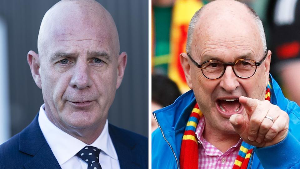 Tasmanian premier Peter Gutwein has heated up a feud with Gold Coast Suns boss Tony Cochrane. Pictures: Getty Images