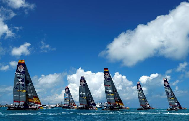 Sailing - Youth America's Cup finals - Hamilton, Bermuda - June 20, 2017 - Teams compete during day one of finals. REUTERS/Mike Segar