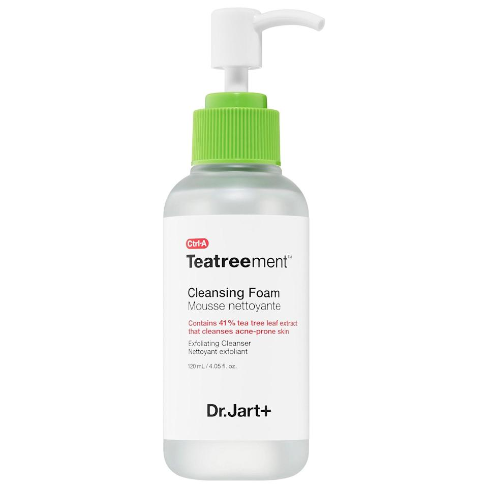 <p>Made for combination or oily skin, this <span>Dr. Jart+ Teatreement Cleansing Foam</span> ($28) is gentle yet potent and cleanses away impurities. Sign us up.</p>