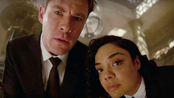 PHOTO: Chris Hemsworth and Tessa Thompson in a scene from 'Men in Black: International.' (Sony Pictures )
