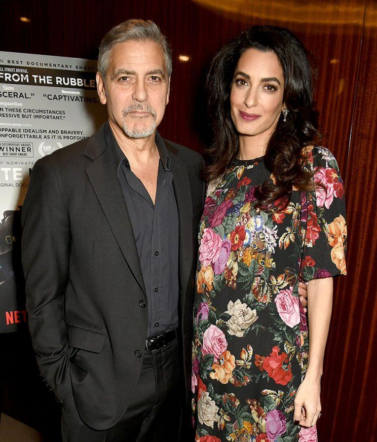 George and Amal Clooney are having boy and a girl in June. (Photo: Getty Images)