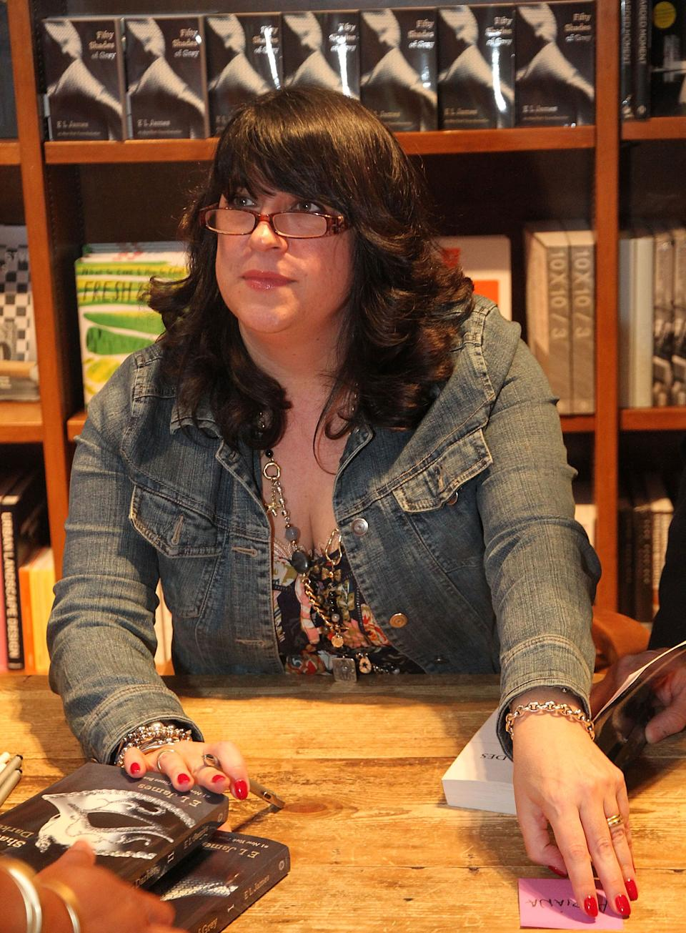 CORAL GABLES, FL - APRIL 29:  E.L.James greets fans and signs copies of her book