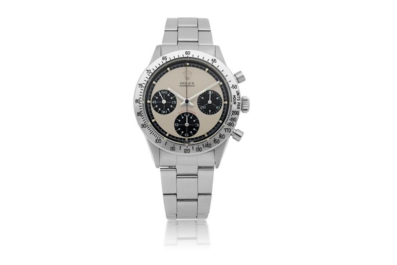 """The Rolex Paul Newman """"Panda"""" Daytona that sold for roughly $167,188"""