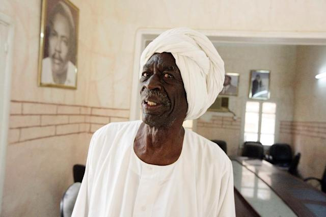 Member of the Sudanese Communist Party's central committee, Siddig Yousif poses at the party's office on May 7, 2014 in the capital Khartoum (AFP Photo/Ebrahim Hamid)
