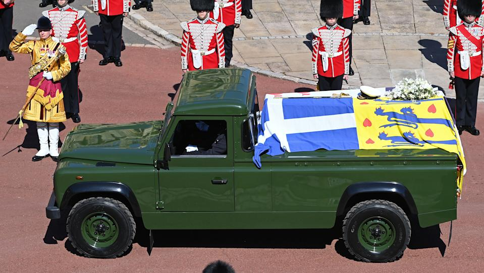 A Land Rover que o Príncipe Philip projetou. (Foto: Pool/Max Mumby/Getty Images)