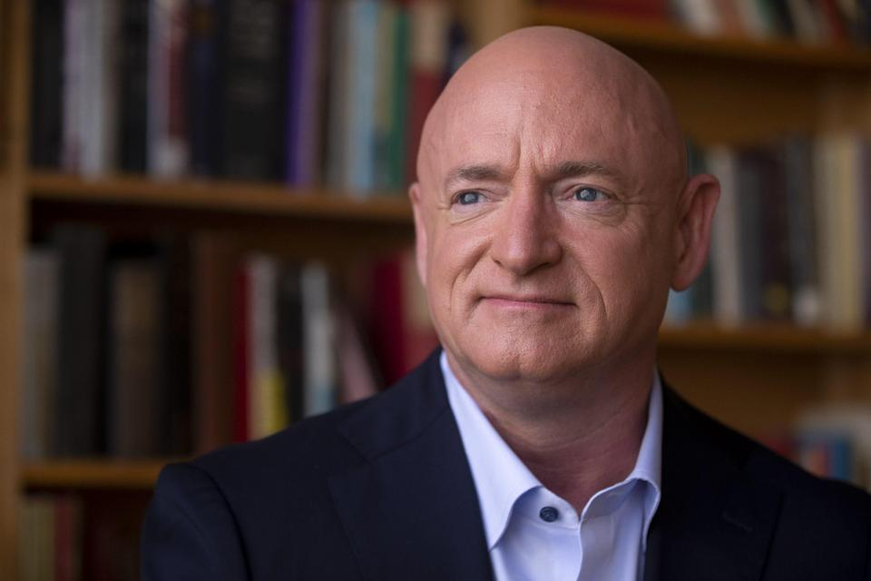 Democratic Senate nominee Mark Kelly sits for a portrait on Aug. 5, 2020, at The Van Buren in Phoenix.