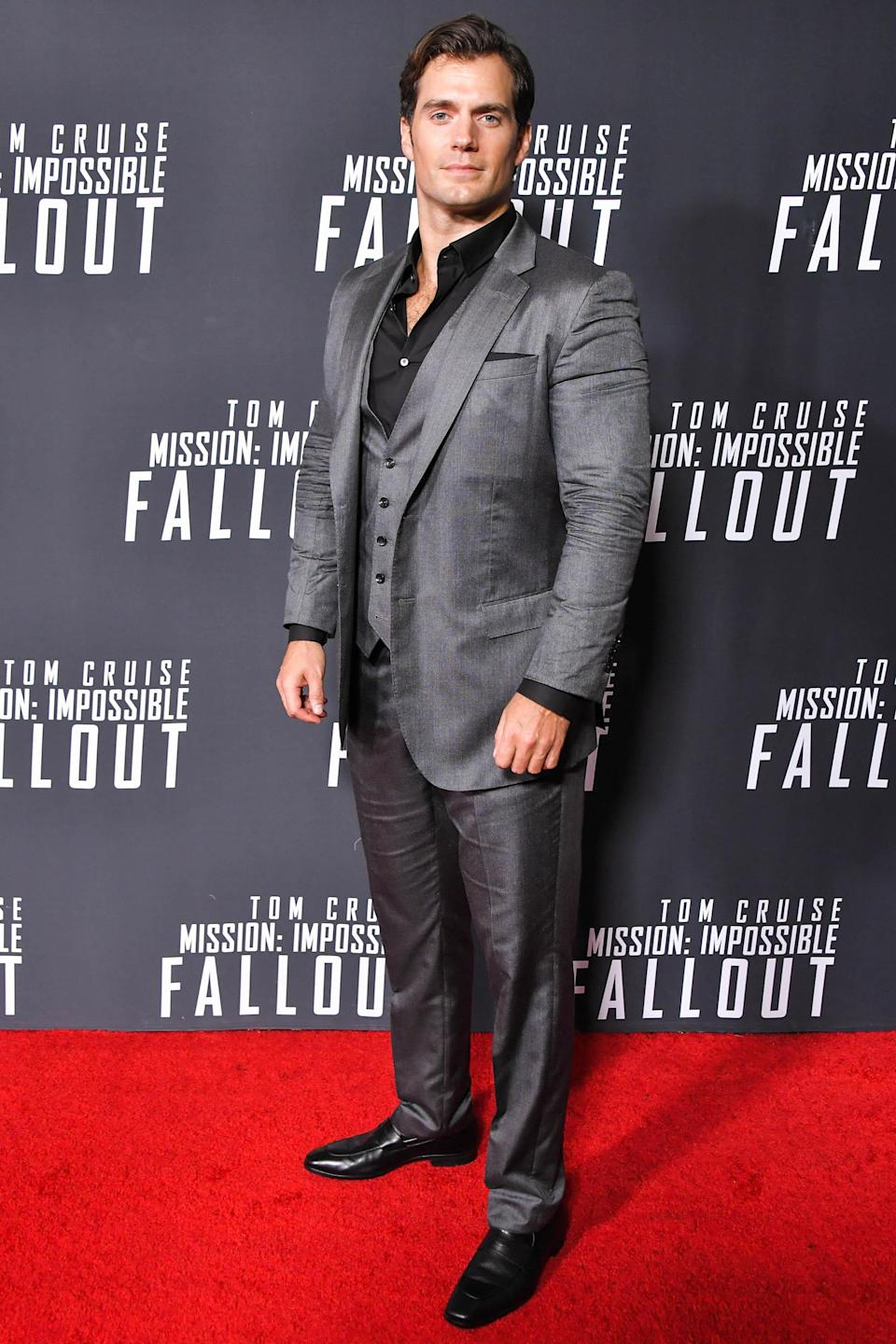 <p>The British star suited up for the premiere of his new film in Washington. <em>[Photo: Getty]</em> </p>