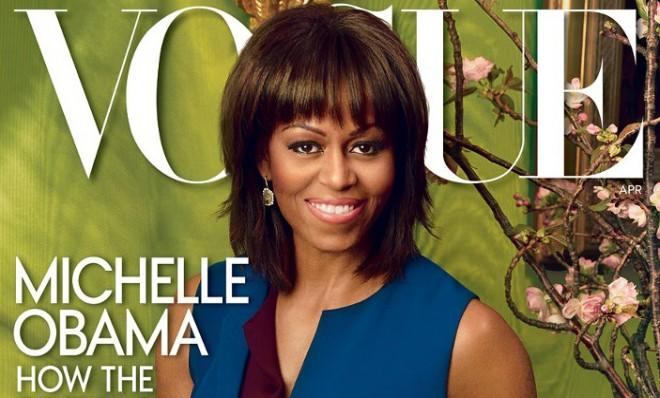First Lady Michelle Obama is on the cover of Vogue's April 2013 issue.