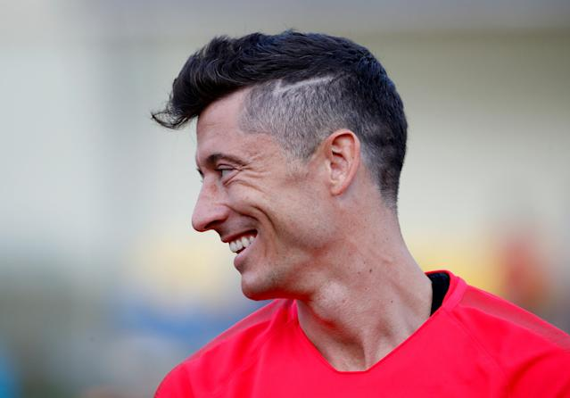 Soccer Football - World Cup - Poland Training - Poland Training Camp, Sochi, Russia - June 21, 2018 Poland's Robert Lewandowski during training REUTERS/Francois Lenoir