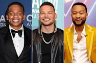 "<p>Across categories, four Black artists have earned nominations this year as well — a record for the annual awards show. Kane Brown, Jimmie Allen, John Legend (with Carrie Underwood) and co-host Mickey Guyton are all up for various awards. </p> <p>""That's really exciting [and] a big step in the right direction because we didn't have any last year,"" Whiteside said of the nominations for Black artists. </p>"