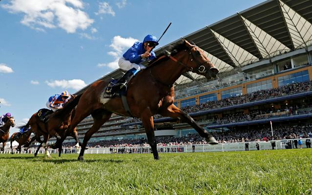 Horse Racing - Royal Ascot - Ascot Racecourse, Ascot, Britain - June 22, 2018 Old Persian ridden by William Buick before winning the 3.05 King Edward VII Stakes Action Images via Reuters/Andrew Boyers
