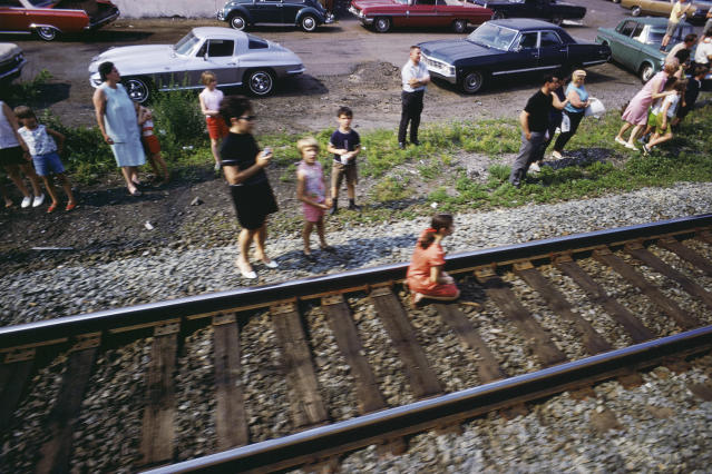 "<p>Untitled from the series ""RFK Funeral Train"" 1968. (© Paul Fusco/Magnum Photos, courtesy of Danziger Gallery) </p>"