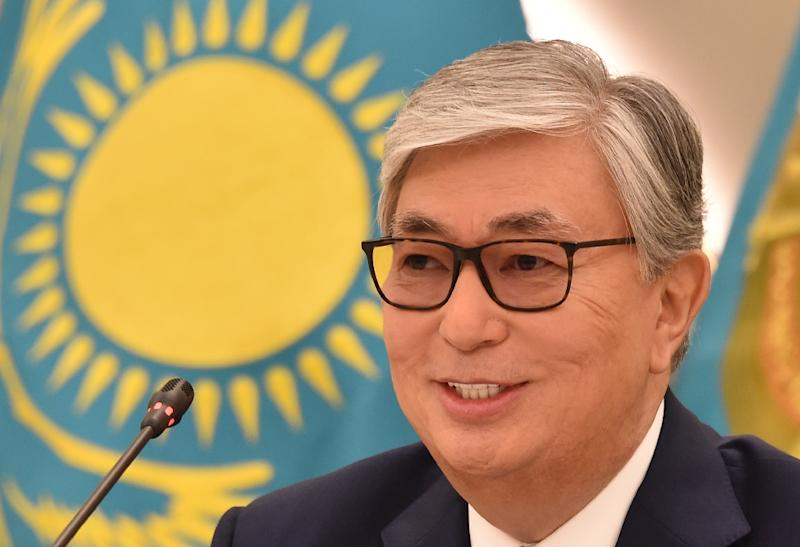 Tokayev has become only the country's second elected president (AFP Photo/Vyacheslav OSELEDKO)