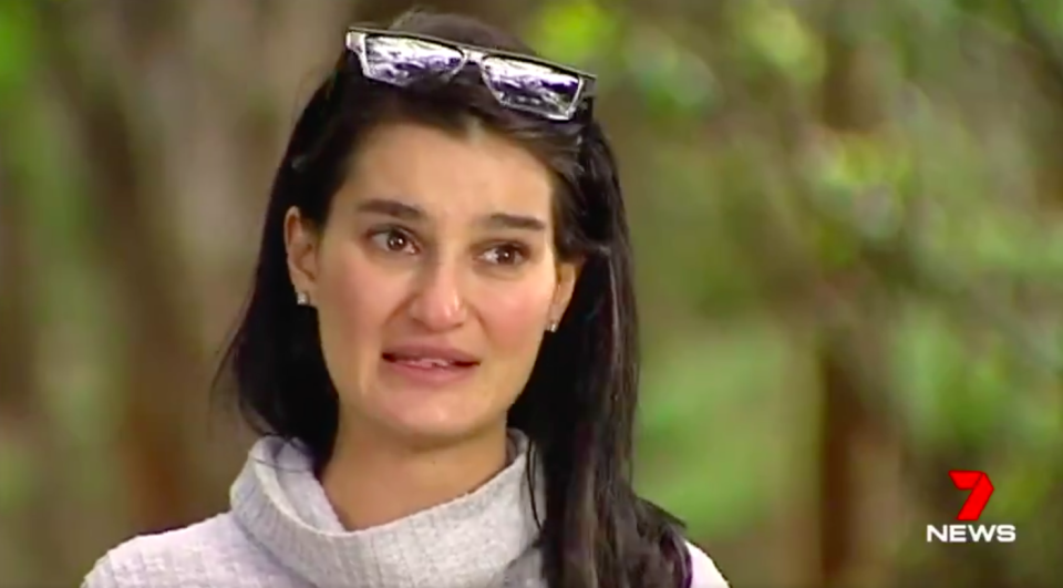 An emotional Ms Celine spoke of her horror when discovering the abuse. Source: 7News