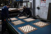 Today, 98 percent of their chessboards are exported, some of which are used in tournaments
